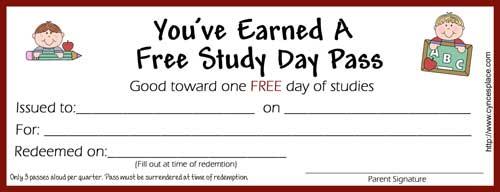 Free Study Day Pass