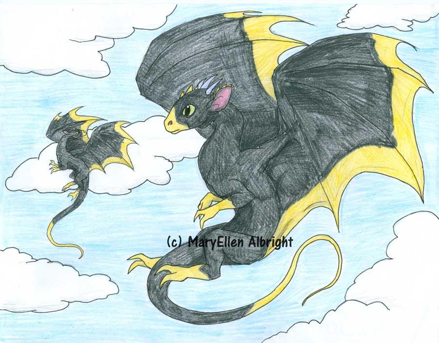 Parent and Child Dragon - MaryEllen