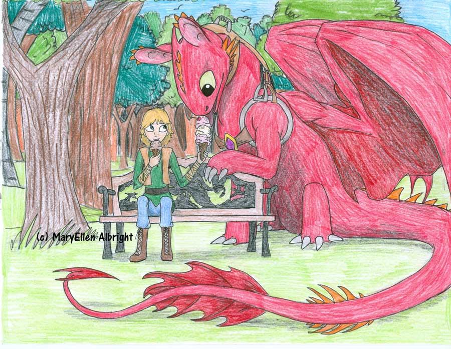 Dragon and Boy - MaryEllen