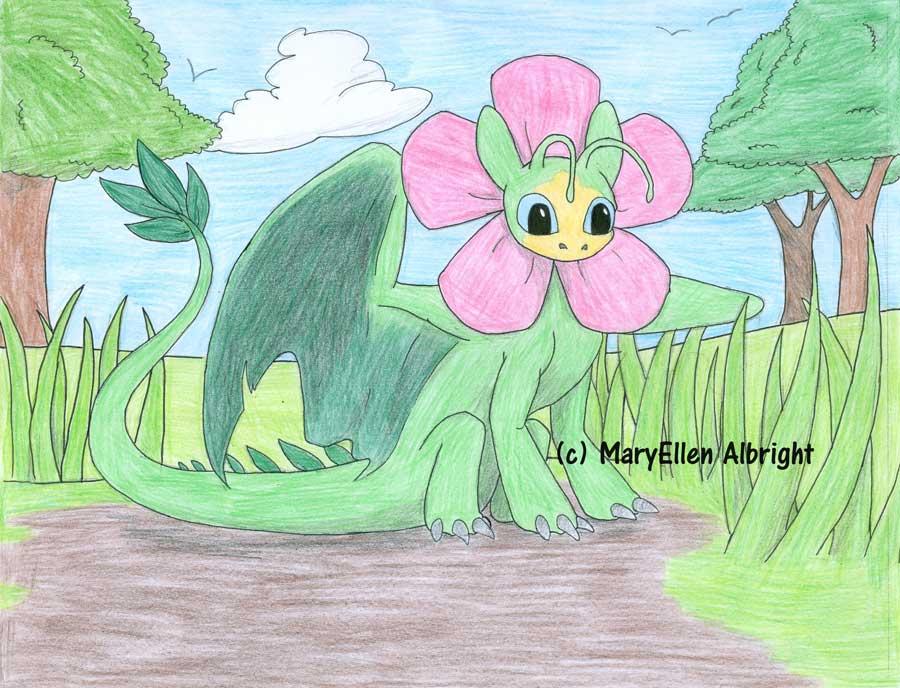 Flower Dragon - MaryEllen