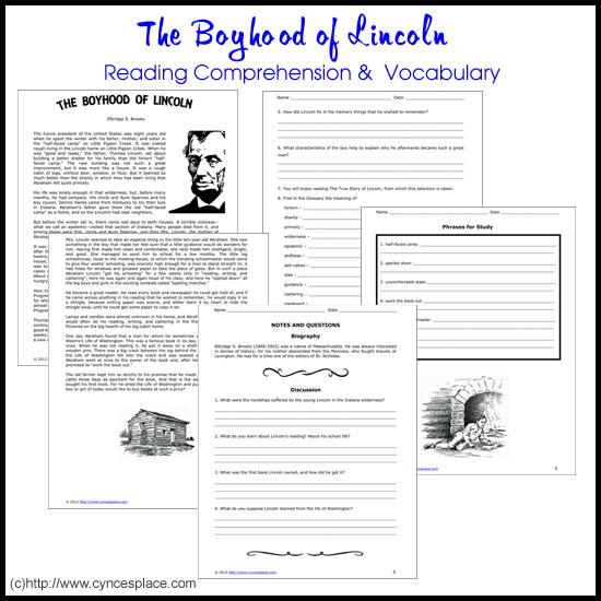 The Boyhood Of Lincoln Cynces Place