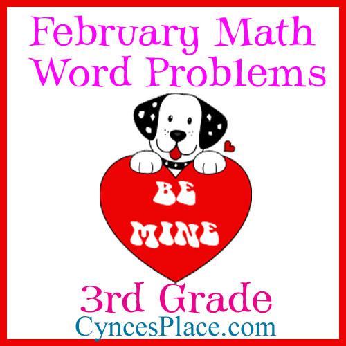 February Math Word Problems - 3rd Grade
