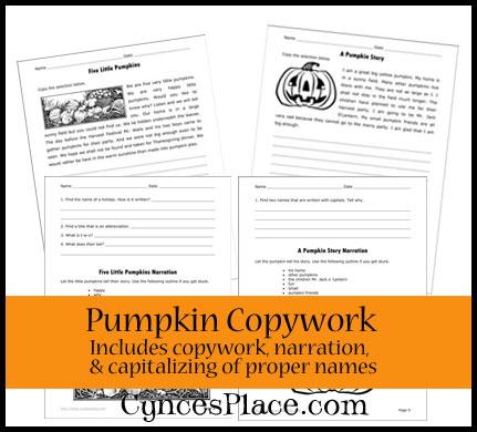 Pumpkin Copywork