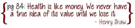 Health Like Money Quote