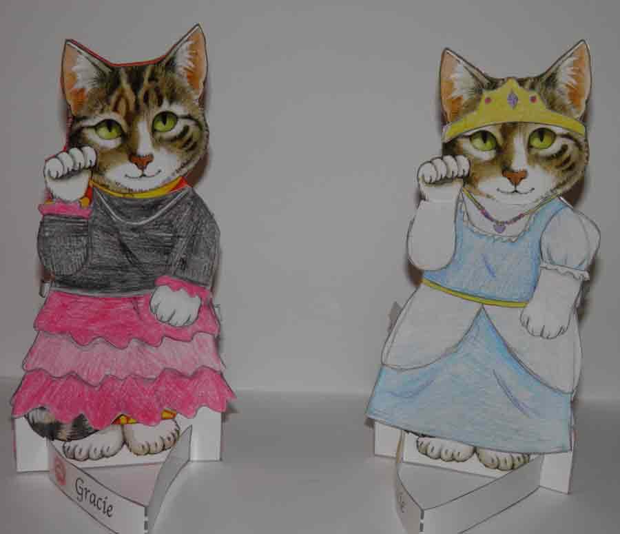 Cat Paper Dolls