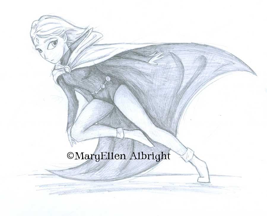 Raven from Teen Titans - ©MaryEllen Albright