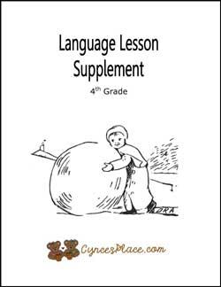 Language Lesson Supplement 4th Grade